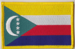 Comoros Embroidered Flag Patch, style 08.